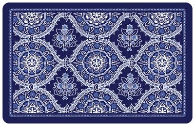 Premium Comfort Deep Floral Mat Ebony 22 x 31